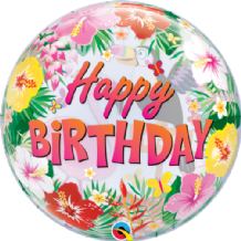 "Tropical Birthday Party Bubble Balloon (22"") 1pc"